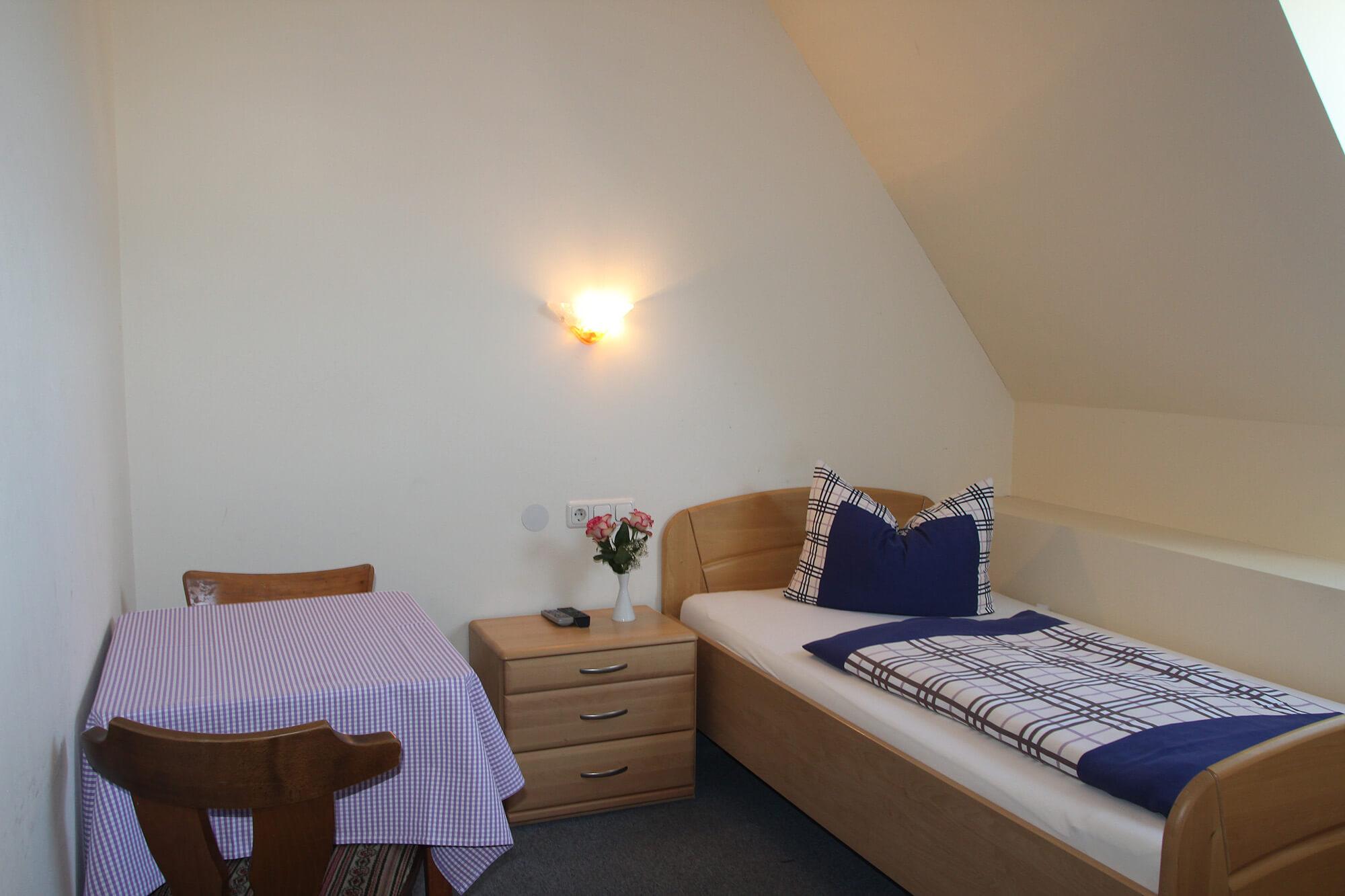 Bild Einzelzimmer Gasthaus Schwarzer Adler Schwaighausen