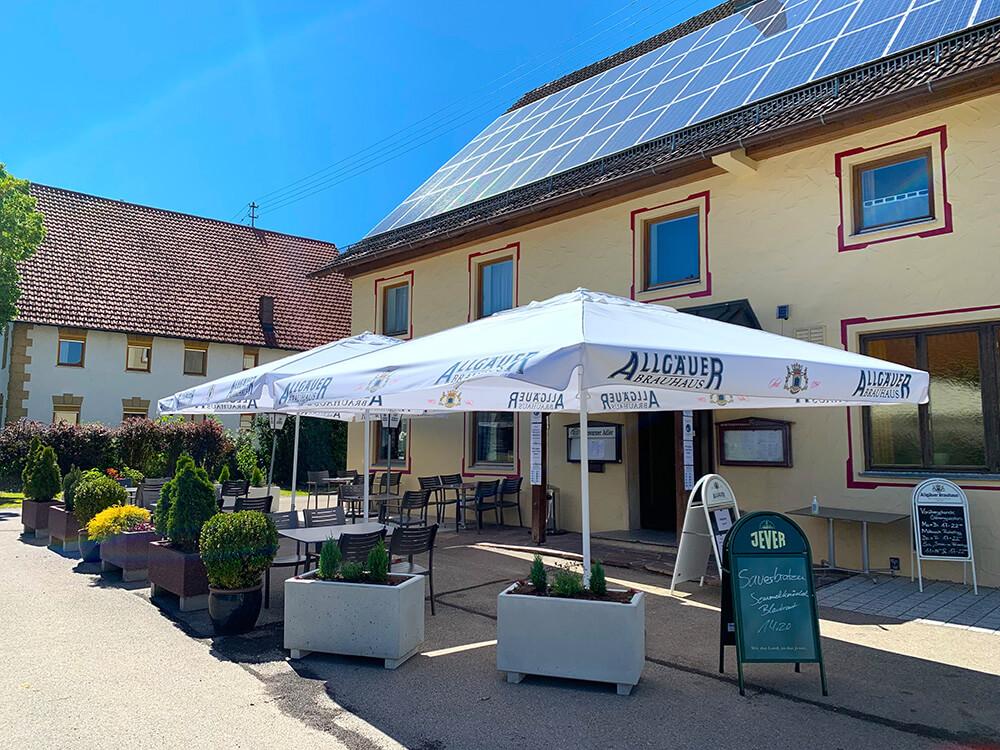 Schwarzer Adler Schwaighausen Biergarten